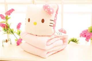 2 in 1 Hello Kitty Blanket And Cushion