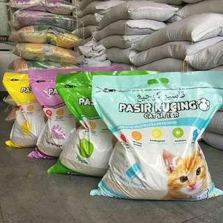 Pasir kucing kawan Cat litter 10 L/ Pasir gumpal wangi
