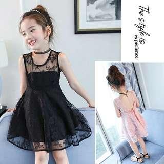 Girls lacy dress