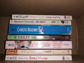 Assorted romance book bundle