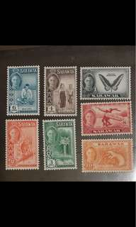 Malaya Sarawak Kings George stamps MNH mint very fresh gum