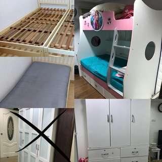 Wardrobes, Double Decker, & Ikea Single Bed