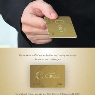 Acacia Hotel Manila Membership Card & Package