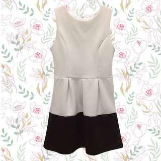 White & Black simple dress