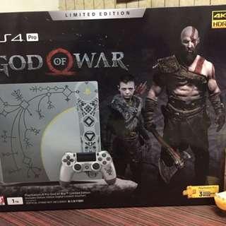 (全新一台)PS4 Pro 戰神 特仕同捆主機