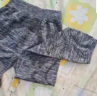Decathlon women grey yoga pants leggings