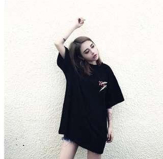 Korean inspired oversized tshirt