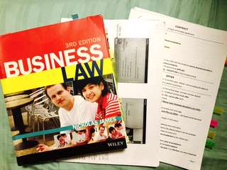 BUSINESS LAW (cheatsheets and lecturer slides printed)