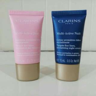 Clarins Multi - Active Day & Night 15ml (Normal Kombinasi) Set