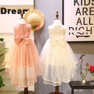 Girls' sweet wind sleeveless dress