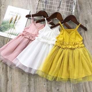 Baby casual sweet gauze dress