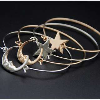 Little Star Moon Bracelet (Gold/Silver)