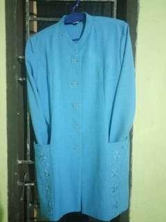 Baju kerja 1 stel warna biru