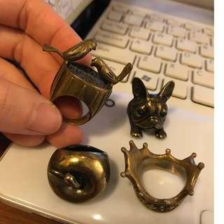 銅戒子 (圈口較大 13-15)