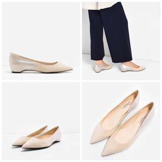 Charles And Keith gradient metallic pointed flats