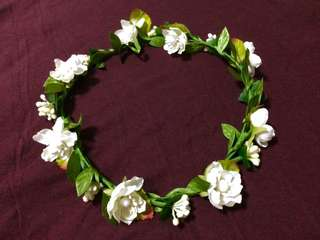 Wedding flower crown headpiece