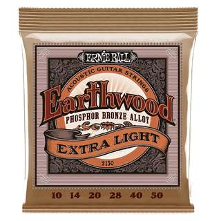 Ernie Ball 2150 Earthwood Phosphor Bronze Acoustic Guitar Strings (Extra Light)