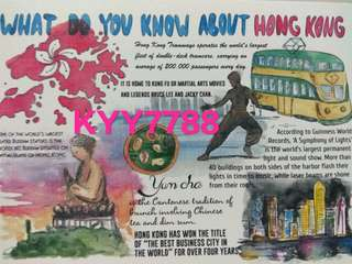 香港明信片 What do you know about Hong Kong