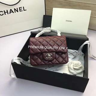 Chanel mini square in red