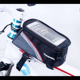 Roswheel Bicycle Mobile Phone Pouch 5.5 inch Touch Screen Top Frame Tube Storage Bag Cycling MTB Road Bike Bycicle