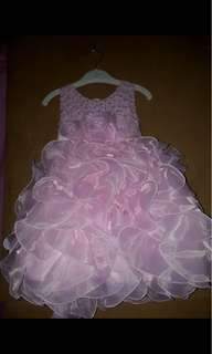 PRELOVED PINK BABY GOWN
