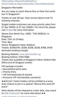 (Help to buy) wanna one concert tickets