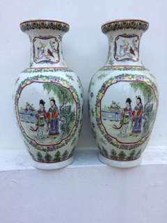 Chinese pair old vases
