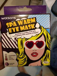 Watsons Spa Warm Eye Mask