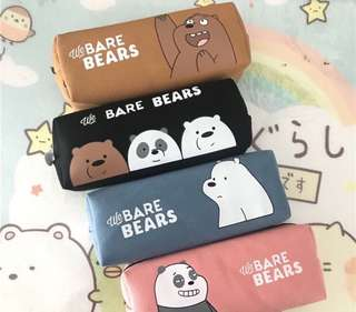 WE BARE BEARS Pencil Case | 咱们裸熊帆布笔袋铅笔盒