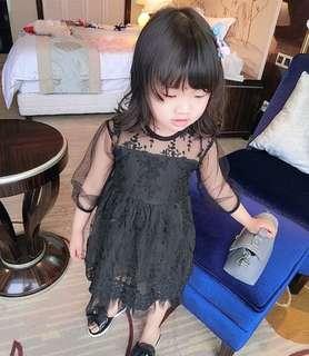 Girls casual plaid princess dress