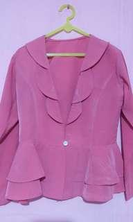 Blazer ruffle pink
