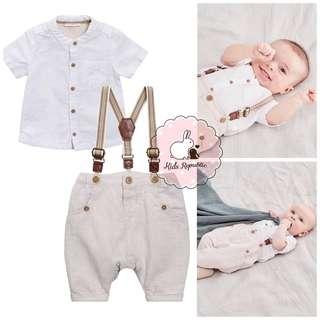 KIDS/ BABY - shirt/ trousers/ braces/ set
