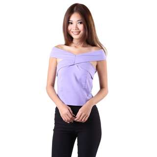 My Glamour Place MGP Wing Crossover Top in Lavender XS (Premium) (U.P. $27.50)