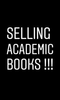 Academic Books for sale!!!
