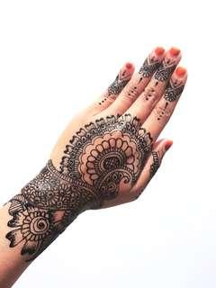 Henna Mehndi Inai Hair raya Festive Wedding Bridal