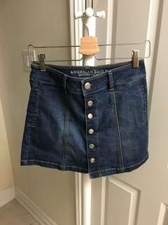 American Eagle Button Down Denim Skirt size 2