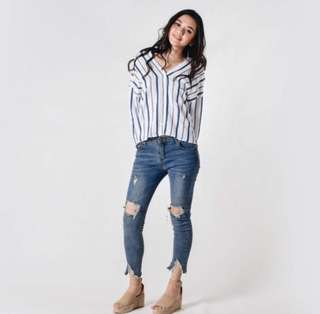 PO: Rachelle Striped Shirt