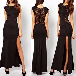 PO Black Gown Party Dress