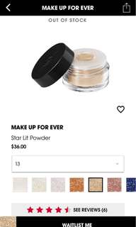 Make Up For Ever Limited Edition Star Lit Powder (#13)