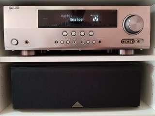 Yamaha RX-V565 AV Receiver + Pioneer Center Speaker (Made in Japan)