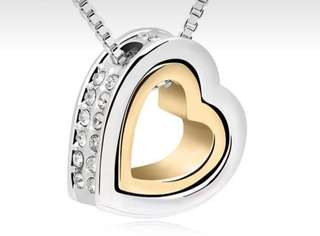 Heart shaped pendant with necklace! Great gift for loved ones, Mother's Day! Last 3sets