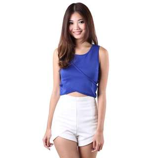 My Glamour Place MGP Arden Criss Top in Blue S (Premium) (U.P. $27.50)