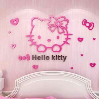 3d self-adhesive wall stickers 100×61cm Red and pink