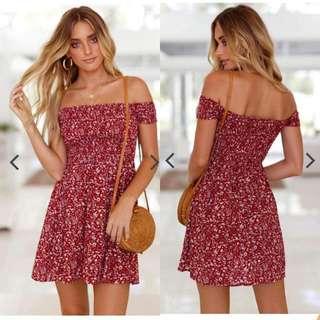 Offs Red Dress
