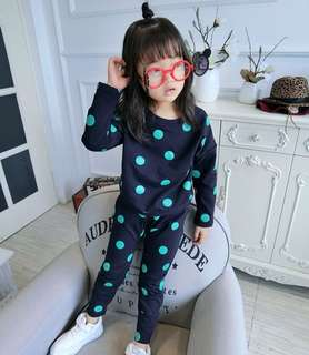 Boys & Girls Sets Children's Dot Tops & Casual Pants 2 Pieces