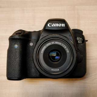 Canon EOS 6D + 40mm f2.8 + Extra Battery