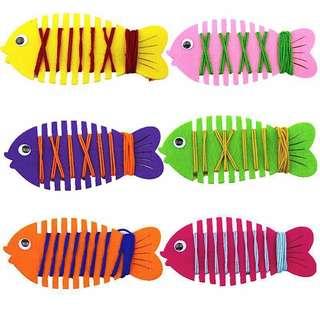 ✔️ Montessori Threading fish board