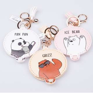 We Bare Bears Mirror Keychains ( D10 )
