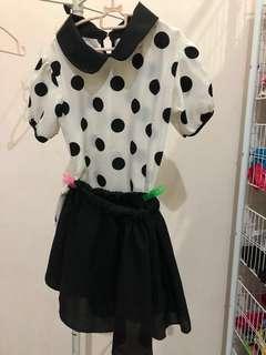 Polka Dot Top & Skirt #letgo4raya