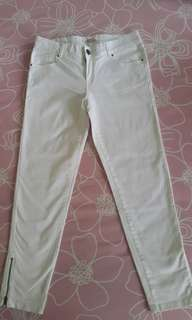White cotton long pant
